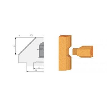Wendeplatten-Kreuzsprossen-Fräser 45˚ für Tischfräsen M14