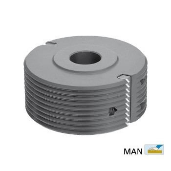 Testa portacoltelli per giunzioni in V per toupie 30 mm