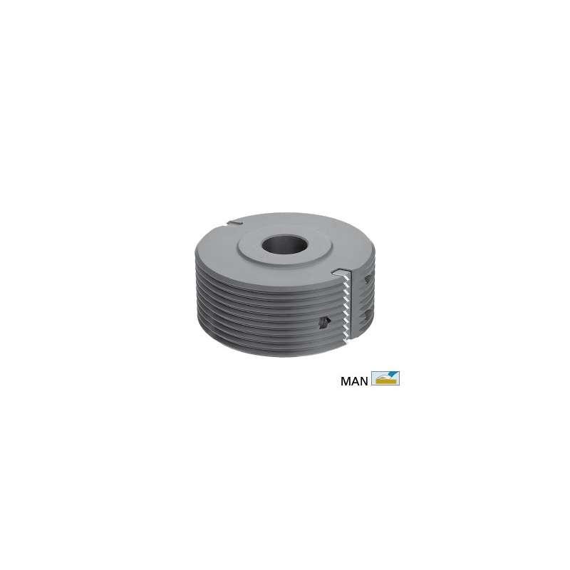 V Glue joint cutter head for spindle moulder shaft 50 mm