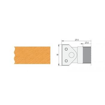 Testa portacoltelli per smussare regolabili Ø120 altezza 40 mm