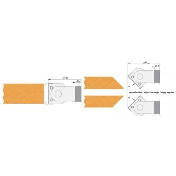 Profischwenkmesserköpfe zum Anfasen für tischfräsen bohrung 30 mm
