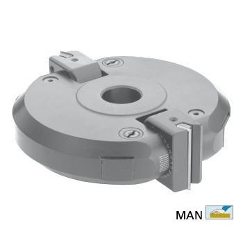 Adjustable chamfer cutter head infinitely adjustable for spindle moulder shaft 50 mm