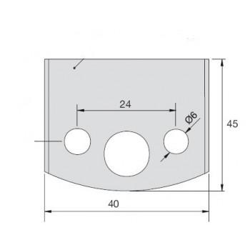 Jeu de 2 fers bruts pour le profilage hauteur 40 mm