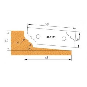 Profilmesser Form 1 für Abplattfräser - Ausführung oben