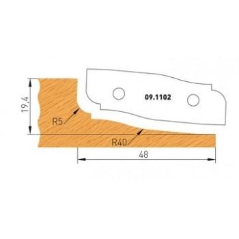 Profilmesser Form 2 für Abplattfräser - Ausführung oben
