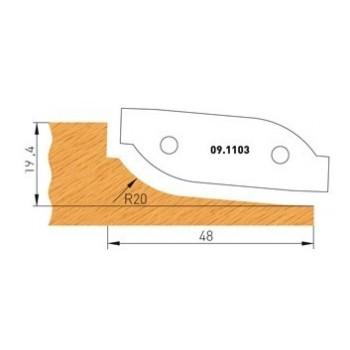 Profilmesser Form 3 für Abplattfräser - Ausführung oben
