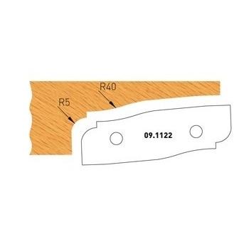 Profilmesser Form 2 für Abplattfräser - Ausführung unten