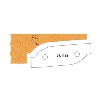 Profilmesser Form 3 für Abplattfräser - Ausführung unten