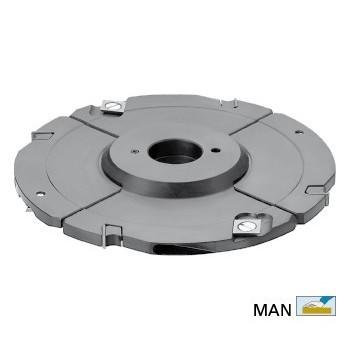 Porte-outils extensible à tenonner et rainurer de 8 à 15 mm Ø 160 mm pour toupie arbre de 50 mm