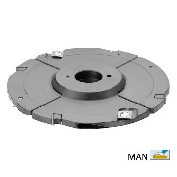Grooving cutter adjustable 12,5 to 24 mm with TC reversibles blades