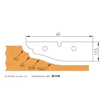 Coltelli Forma n° 1130 per antine - Utensili lavora sopra