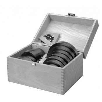 Set of 7 Butting ring in light alloy for spindle moulder shaft 50 mm