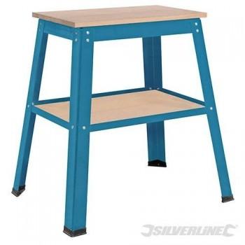 Socle/piètement avec 2 plateaux pour petite machine à bois