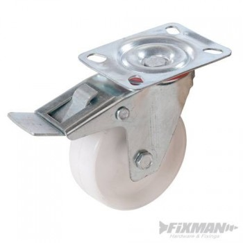 Roulette pivotante avec frein pour machine max 160kg