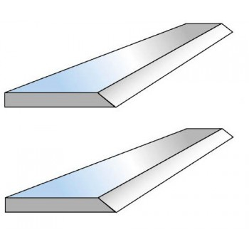 Jeu de 2 couteaux de dégauchisseuse 155 mm pour mini-combinés K6-154 ou Combi 6 et CWM150