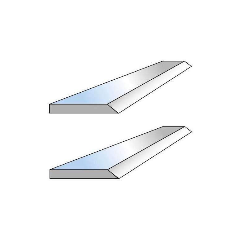 Jeu de 2 fers de degauchisseuse HSS 18% 260 x 17.5 x 2.9 mm pour Kity-Scheppach 2635-HMS260-HMC2600