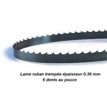 Hoja para sierra de cinta 1610 mm ancho 6 mm espesor 0.36 mm
