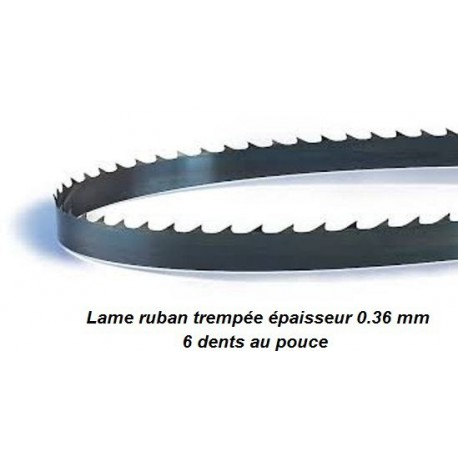 Lame de scie à ruban 2240 mm largeur 6 (scie Scheppach HBS300, Fartools, Ryobi...)