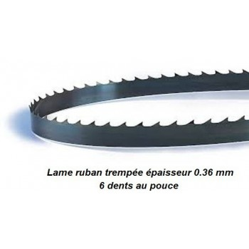 Lame de scie à ruban trempée 2400X06X0.36 mm pour le chantournage (scie Lurem SAR350)