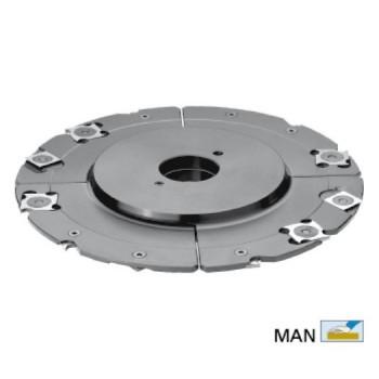 Porte-outils à rainures extensibles de 5 à 9.5 mm Ø 160 pour toupie arbre de 50 mm