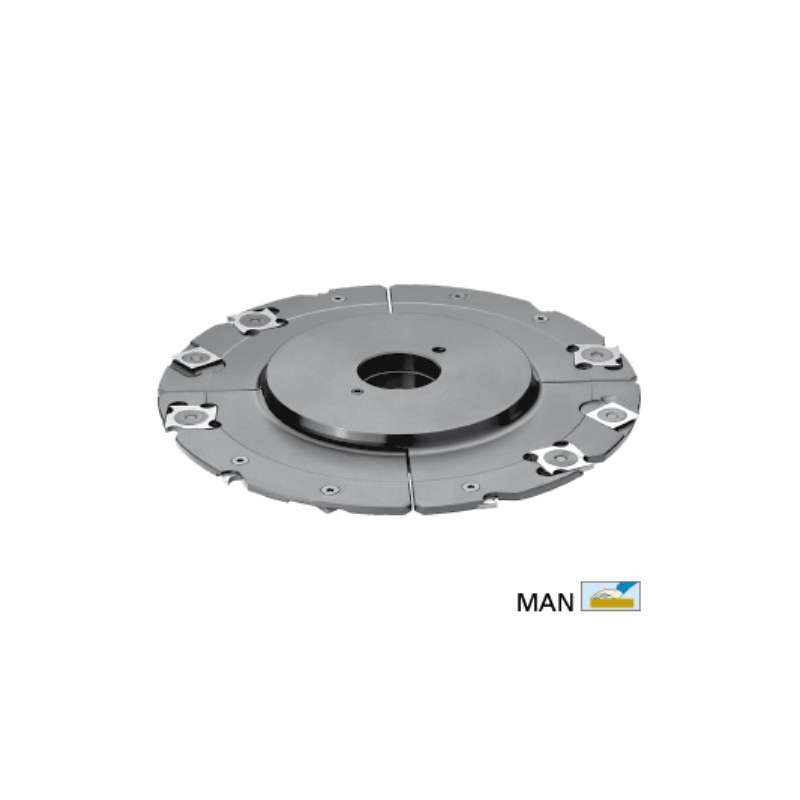 Grooving cutter adjustable 5 to 9,5 mm with TC reversibles blades