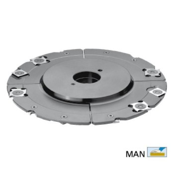 Grooving cutter adjustable 4 to 7,5 mm with TC reversibles blades