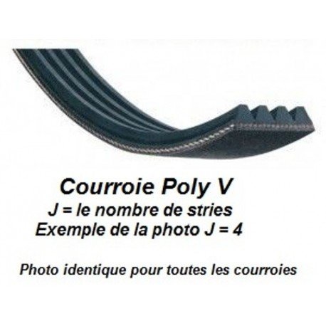 Belt POLY V 711J8 for spindle moulder Kity 1609, 608-629