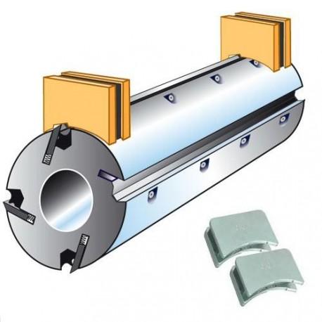 Posicionador de cuchillas magnética