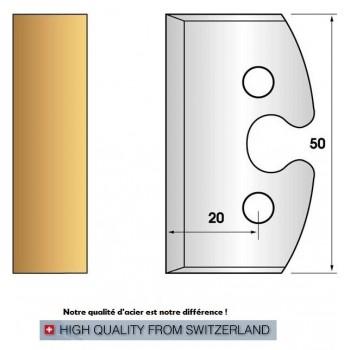 Jeu de 2 fers profiles hauteur  50X5.5 mm n° 200