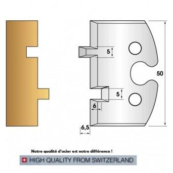 Jeu de 2 fers profiles hauteur  50X5.5 mm n° 201