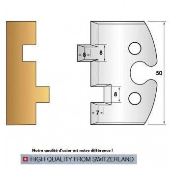Jeu de 2 fers profiles hauteur  50X5.5 mm n° 202
