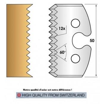 Paire de fers de toupie hauteur 50 mm n° 203 - enture pas de 4mm
