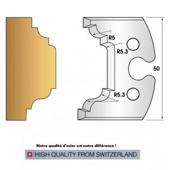 Paire de fers de toupie hauteur 50 mm n° 204 - petits bois