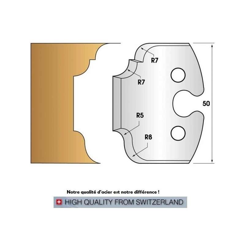 Profile knives and limiters 50 mm - Probois machinoutils