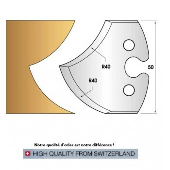 Jeu de 2 fers profiles hauteur  50X5.5 mm n° 209
