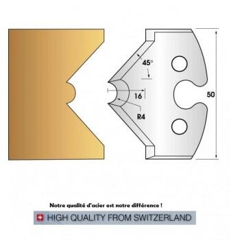 Jeu de 2 fers profiles hauteur  50X5.5 mm n° 212