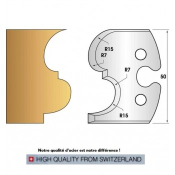 Jeu de 2 fers profiles hauteur  50X5.5 mm n° 216