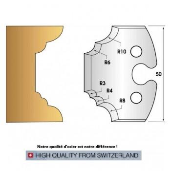 Jeu de 2 fers profiles hauteur  50X5.5 mm n° 220