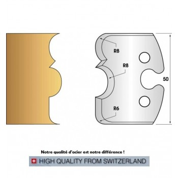 Jeu de 2 fers profiles hauteur  50X5.5 mm n° 221