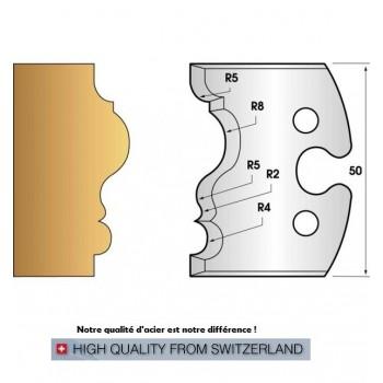 Jeu de 2 fers profiles hauteur  50X5.5 mm n° 228