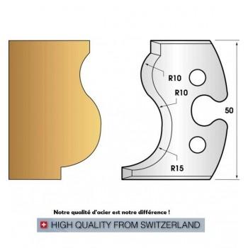 Paire de fers de toupie hauteur 50 mm n° 229 - moulure main courante