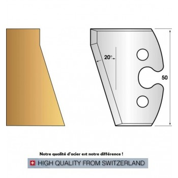 Jeu de 2 fers profiles hauteur  50X5.5 mm n° 230