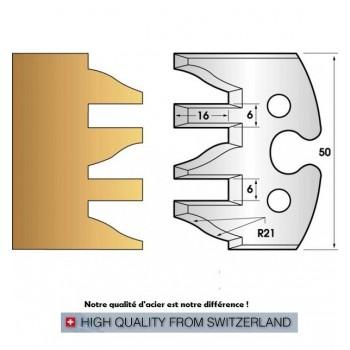 Jeu de 2 fers profiles hauteur  50X5.5 mm n° 232