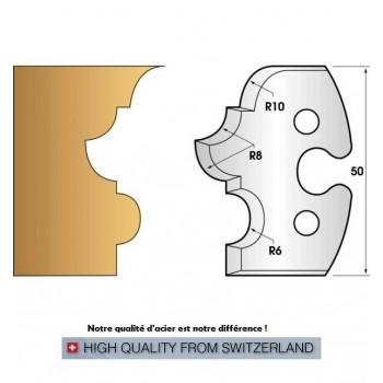 Jeu de 2 fers profiles hauteur  50X5.5 mm n° 233