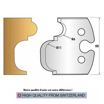 Jeu de 2 fers profiles hauteur  50X5.5 mm n° 234
