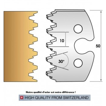Jeu de 2 fers profiles hauteur  50X5.5 mm n° 237