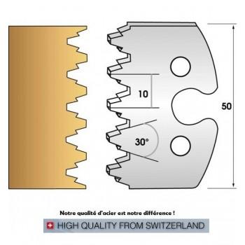 Paire de fers de toupie hauteur 50 mm n° 237 - enture assemblage