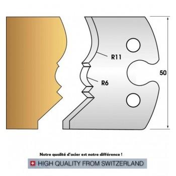 Jeu de 2 fers profiles hauteur  50X5.5 mm n° 241