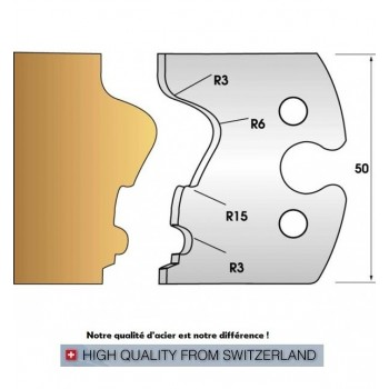 Jeu de 2 fers profiles hauteur  50X5.5 mm n° 244