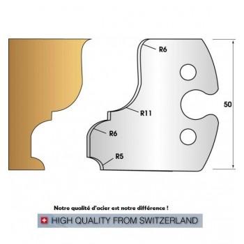 Jeu de 2 fers profiles hauteur  50X5.5 mm n° 245